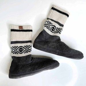 Roots cabin wool-blend sock slippers - size Small